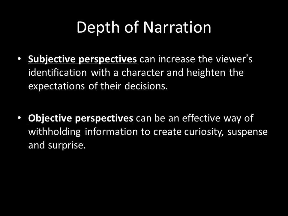 Depth of Narration