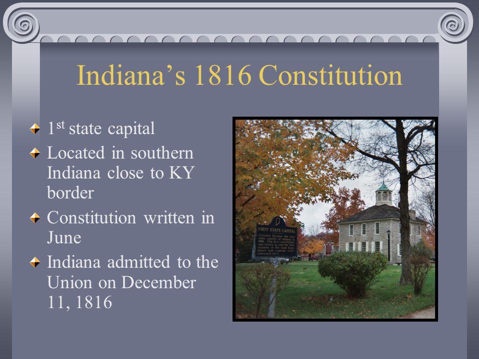 Indiana's 1816 Constitution