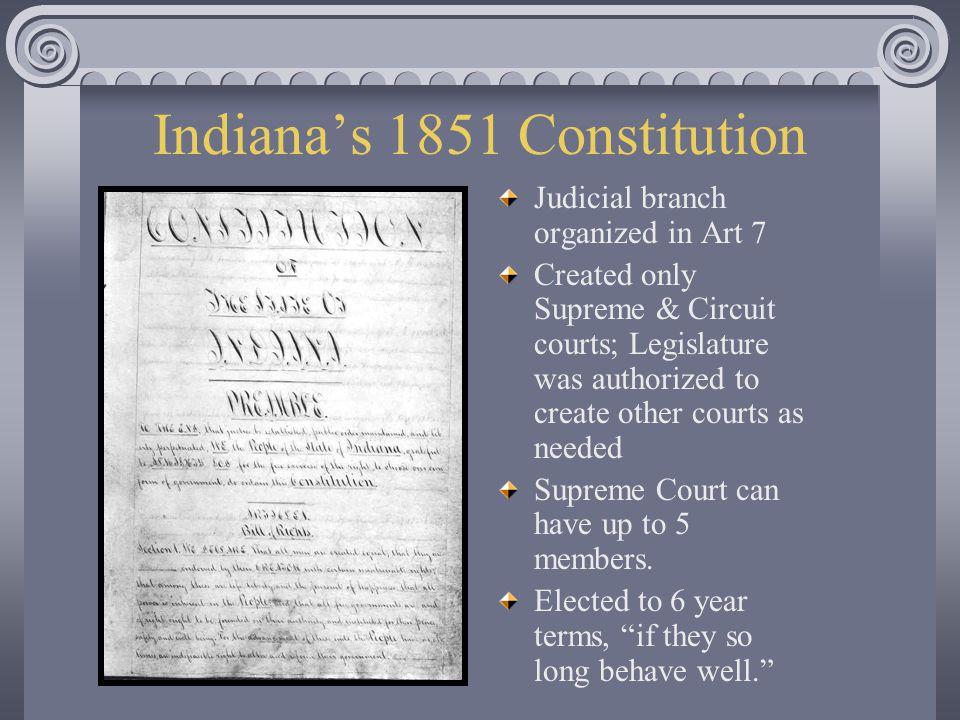 Indiana's 1851 Constitution