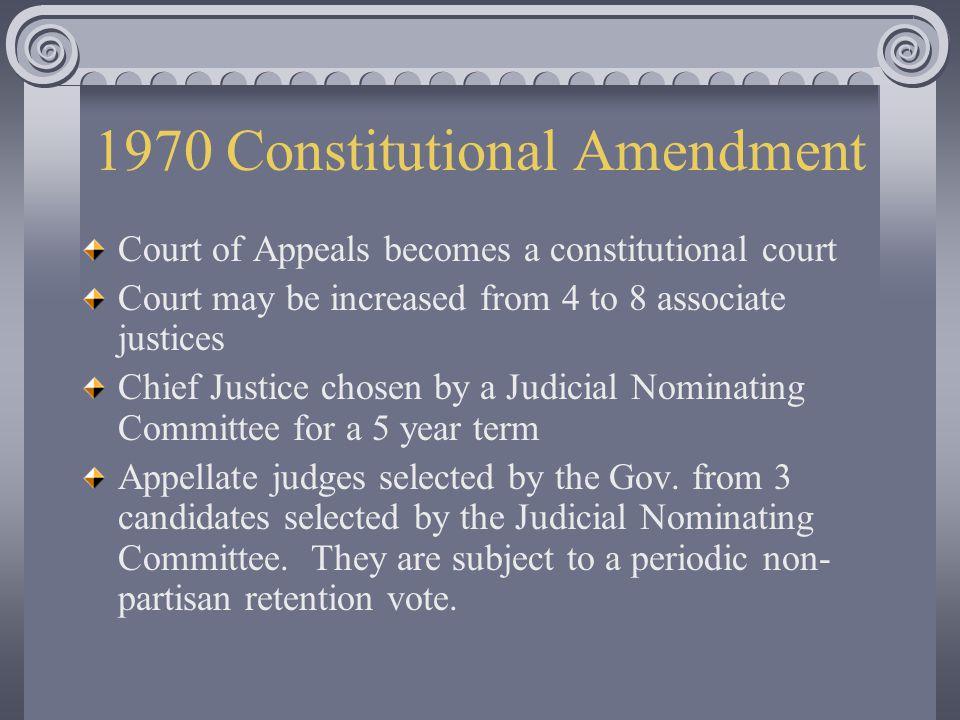 1970 Constitutional Amendment