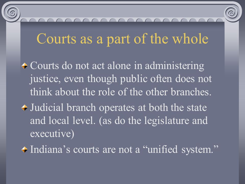 Courts as a part of the whole