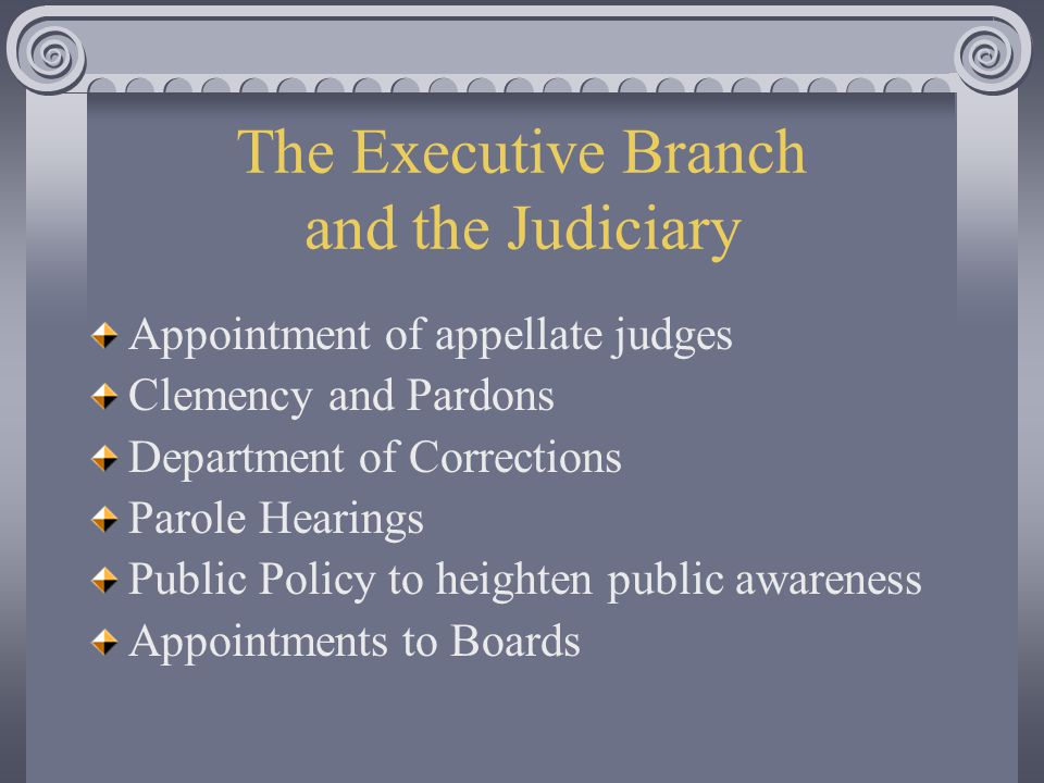 The Executive Branch and the Judiciary