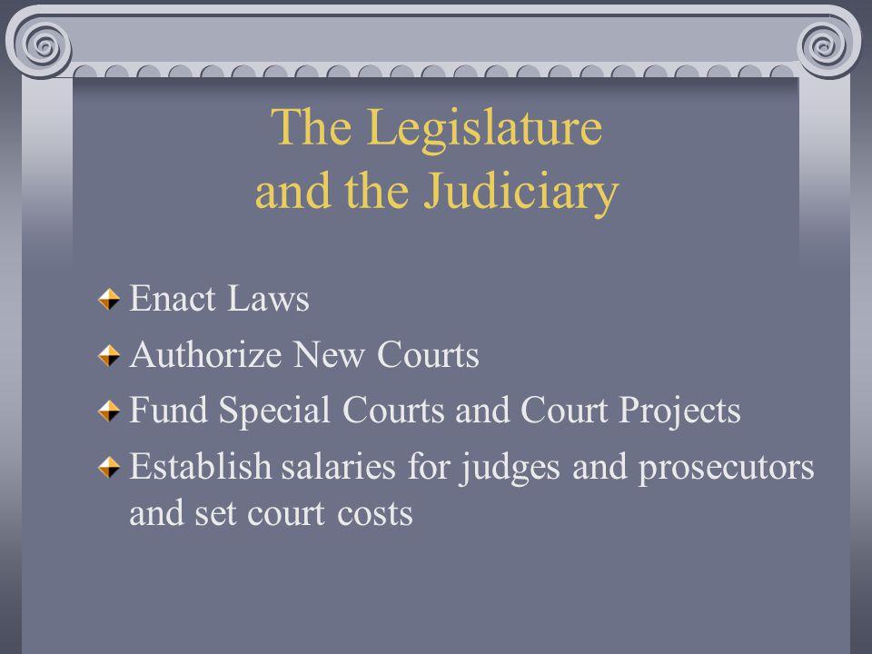 The Legislature and the Judiciary
