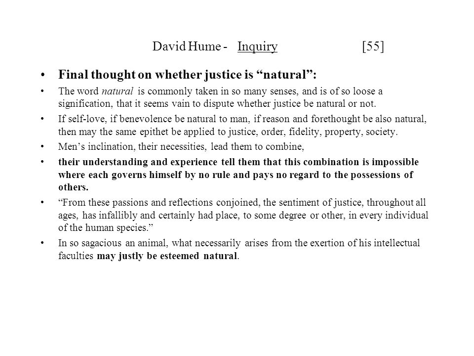 Final thought on whether justice is natural :