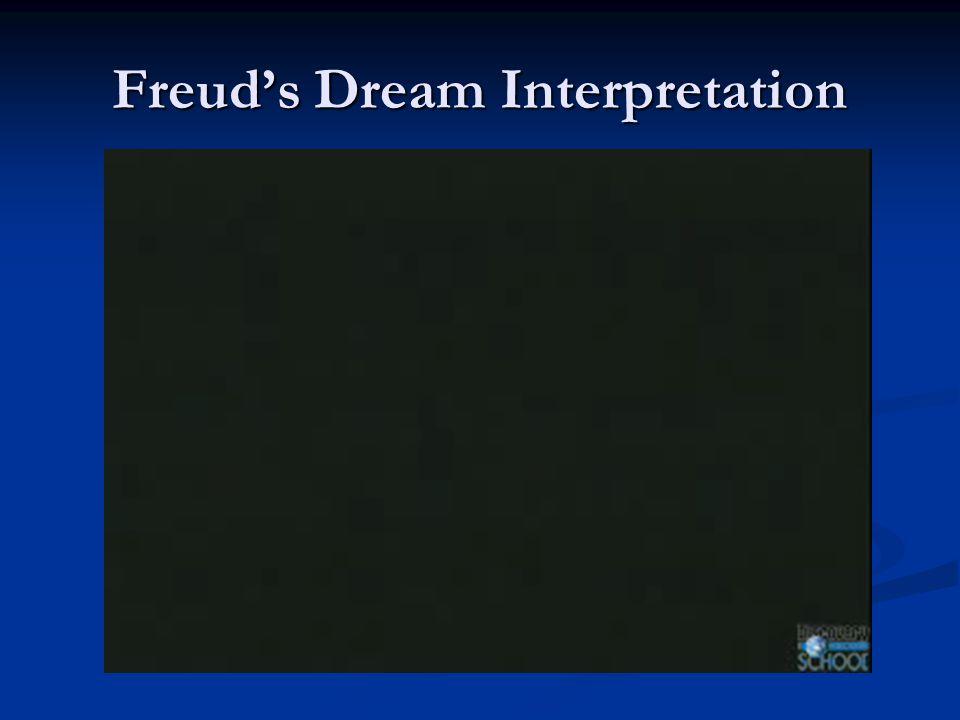 Freud's Dream Interpretation