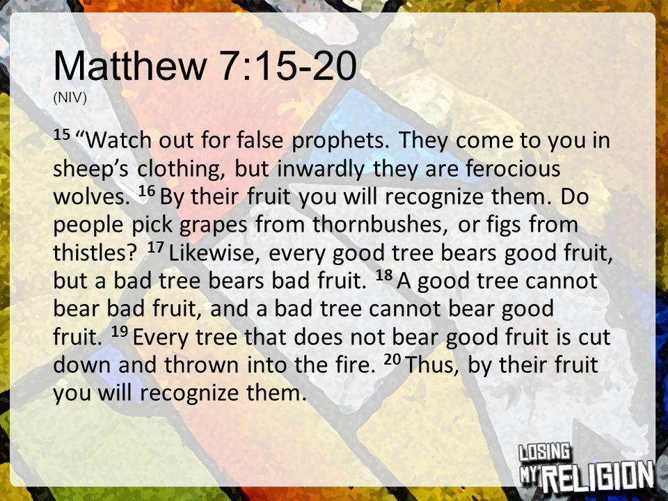 Matthew 7:15-20 (NIV)