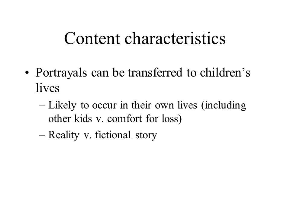 Content characteristics