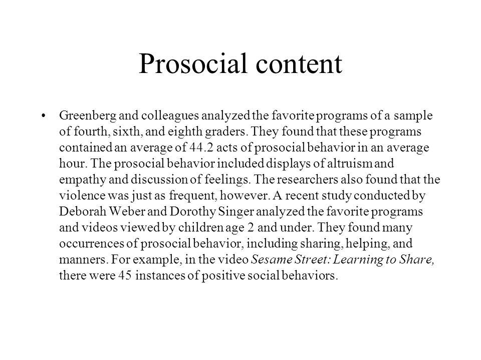 Prosocial content