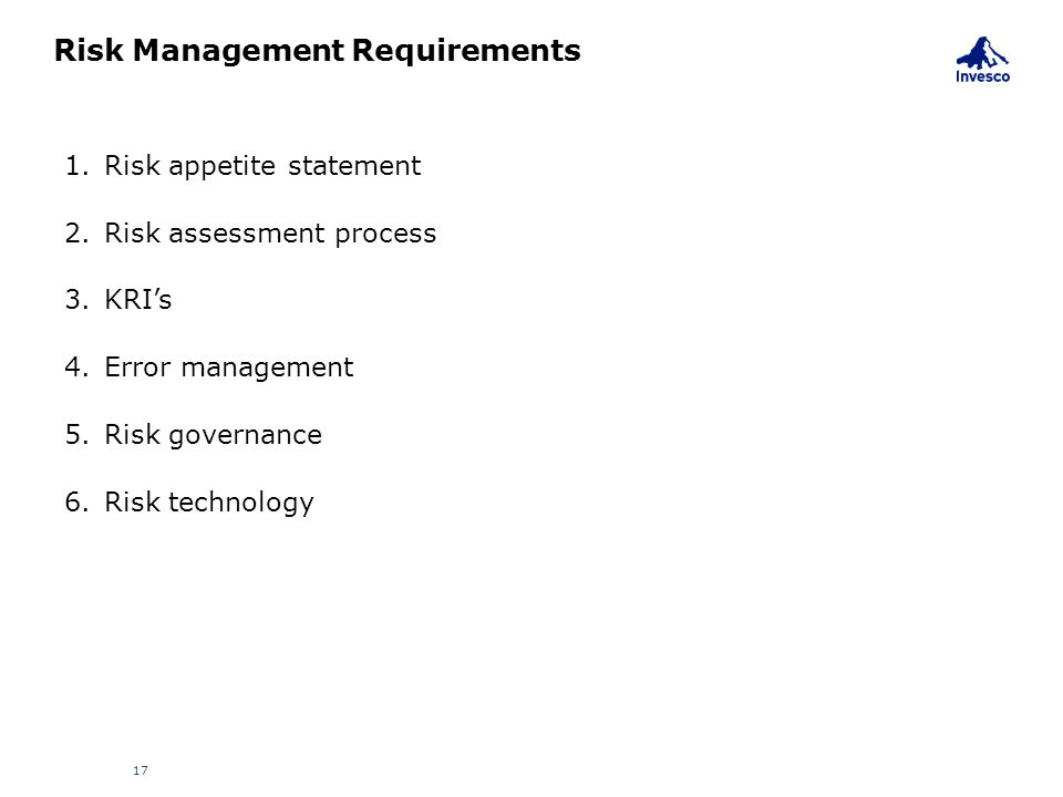 Risk Management Requirements