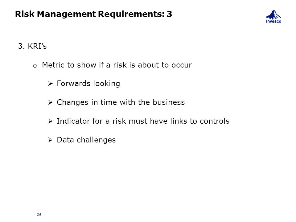 Risk Management Requirements: 3