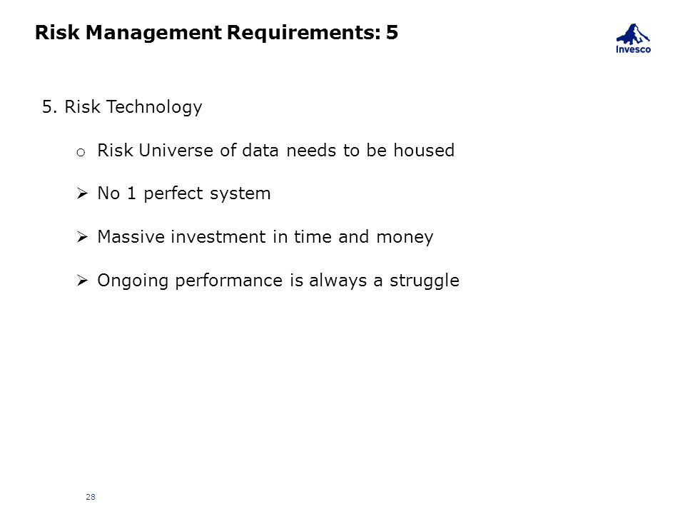 Risk Management Requirements: 5