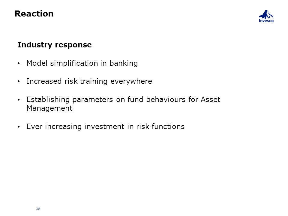 Reaction Industry response Model simplification in banking