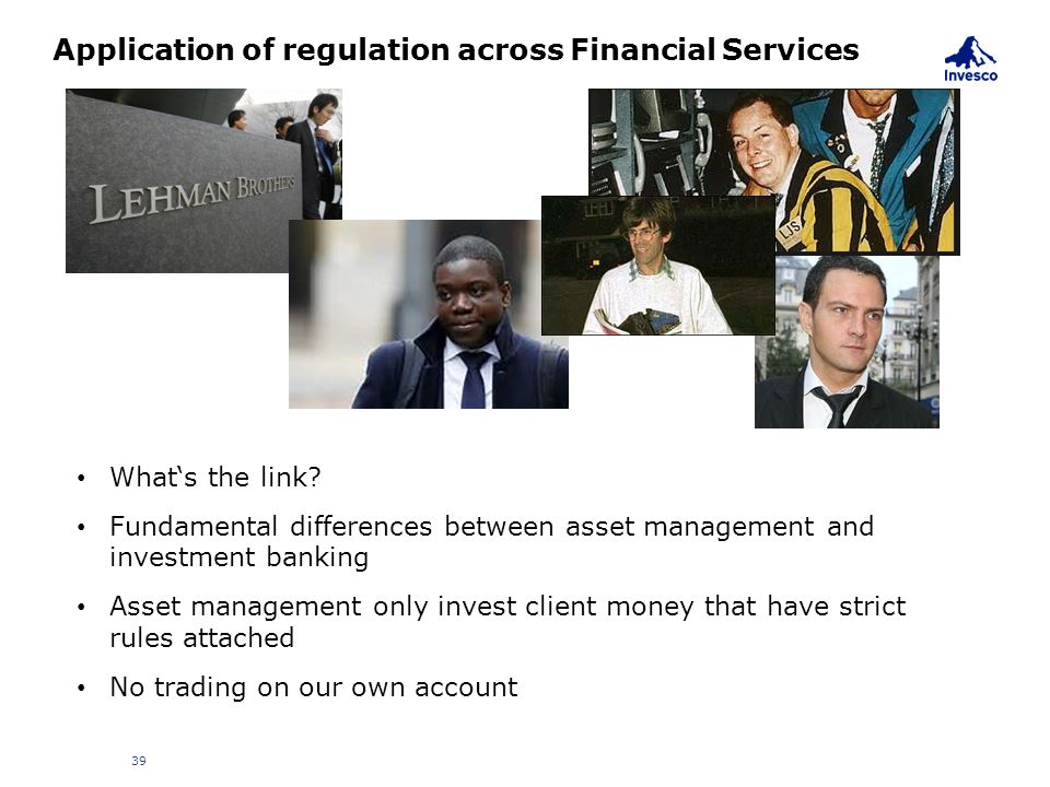 Application of regulation across Financial Services