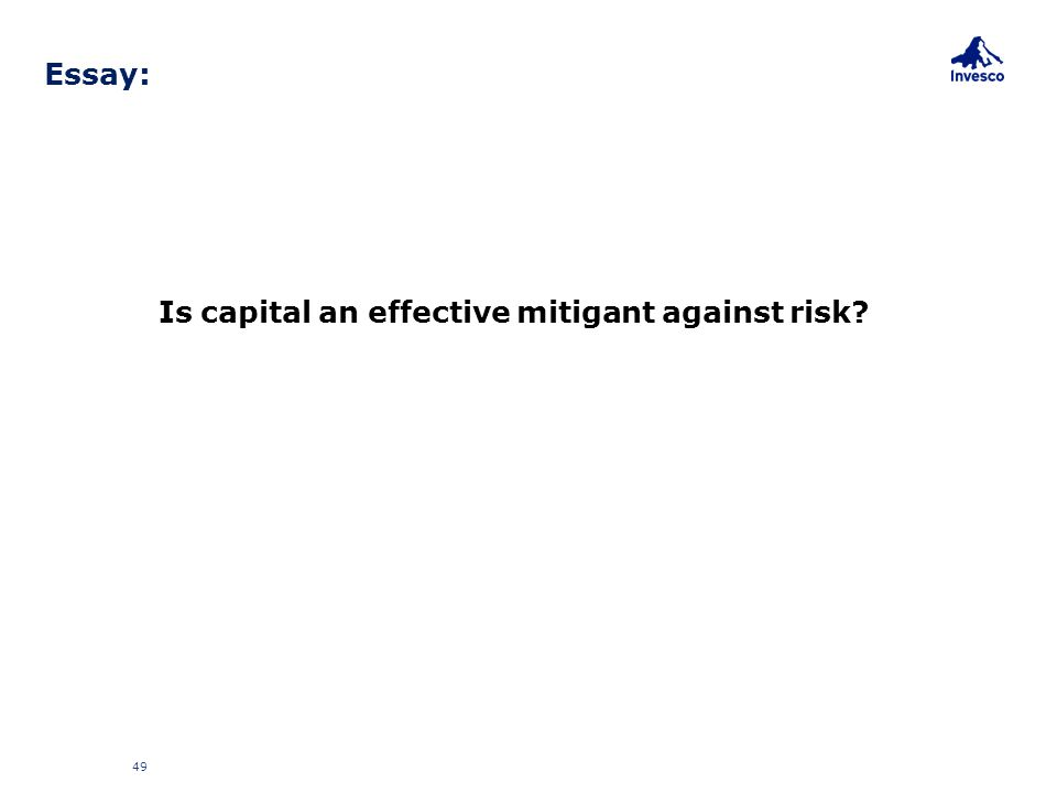 Is capital an effective mitigant against risk