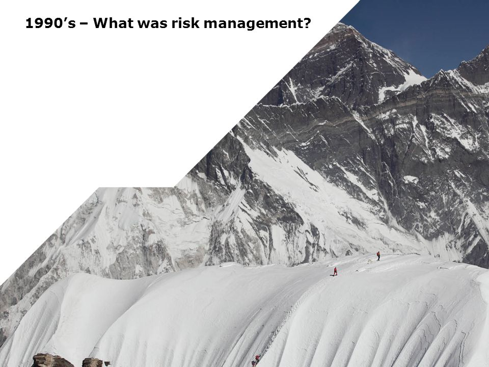 1990's – What was risk management