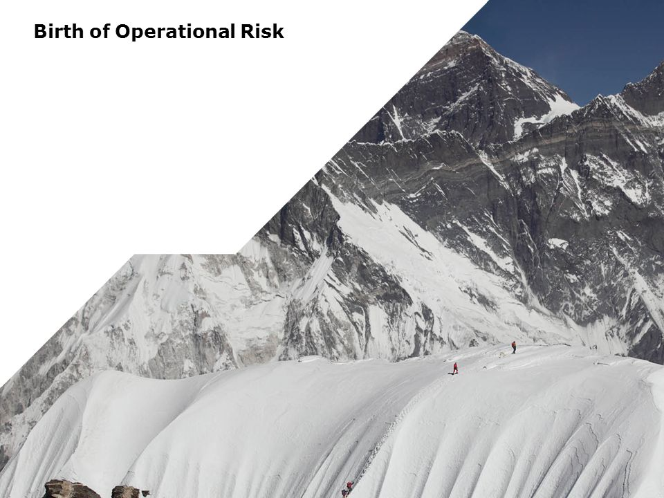Birth of Operational Risk