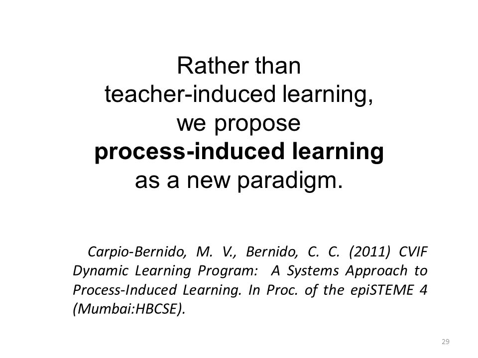 process-induced learning