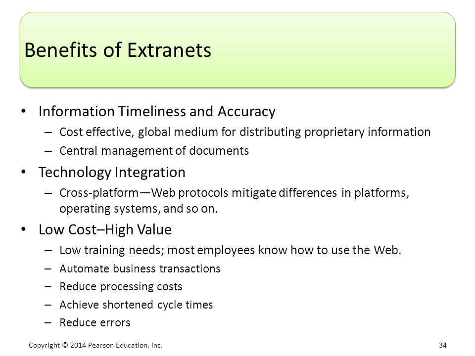 Benefits of Extranets Information Timeliness and Accuracy