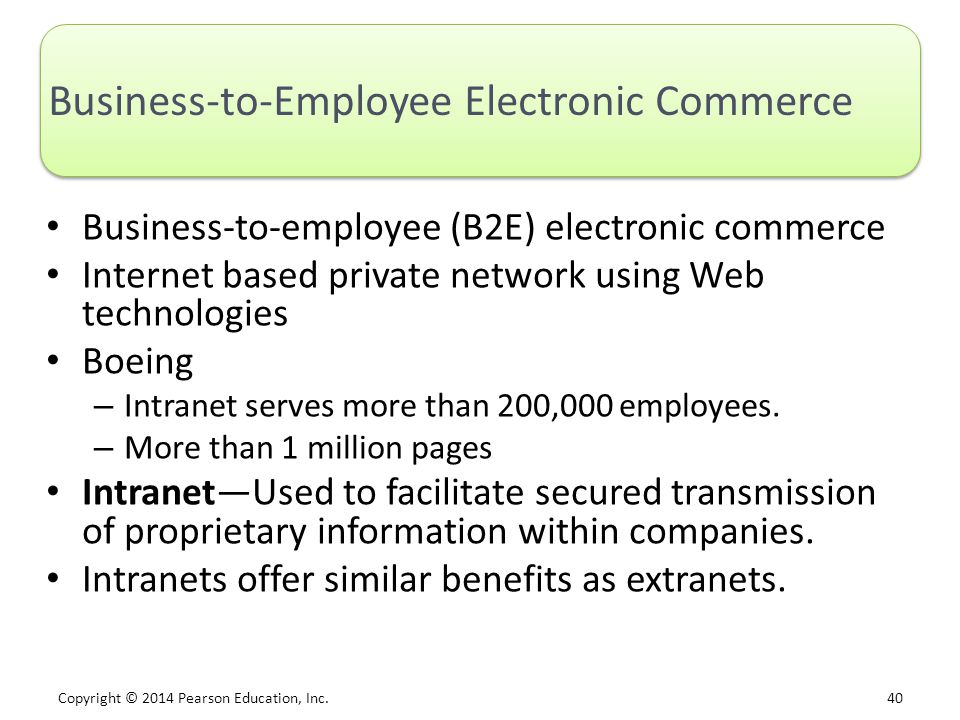 Business-to-Employee Electronic Commerce