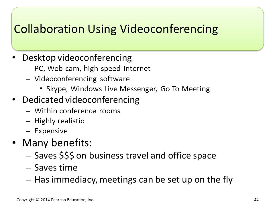 Collaboration Using Videoconferencing
