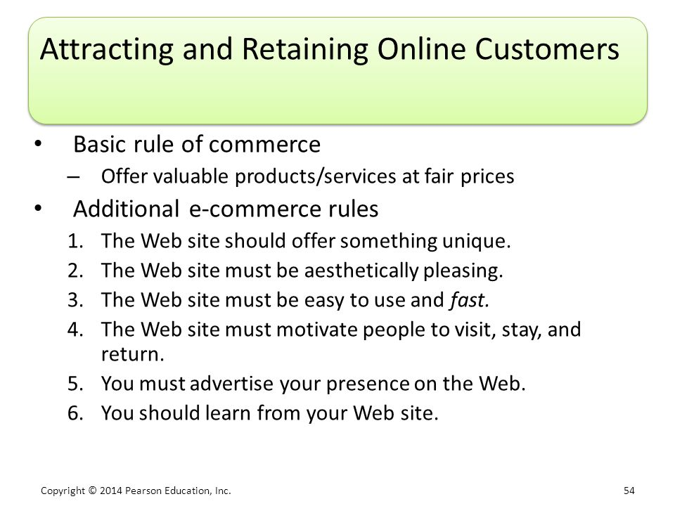 Attracting and Retaining Online Customers