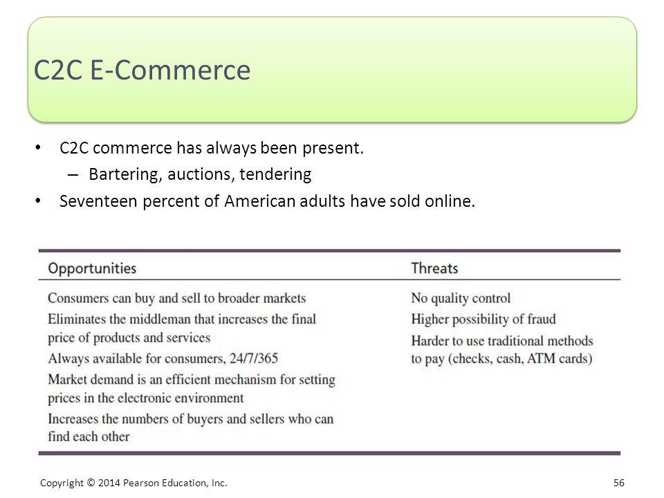C2C E-Commerce C2C commerce has always been present.