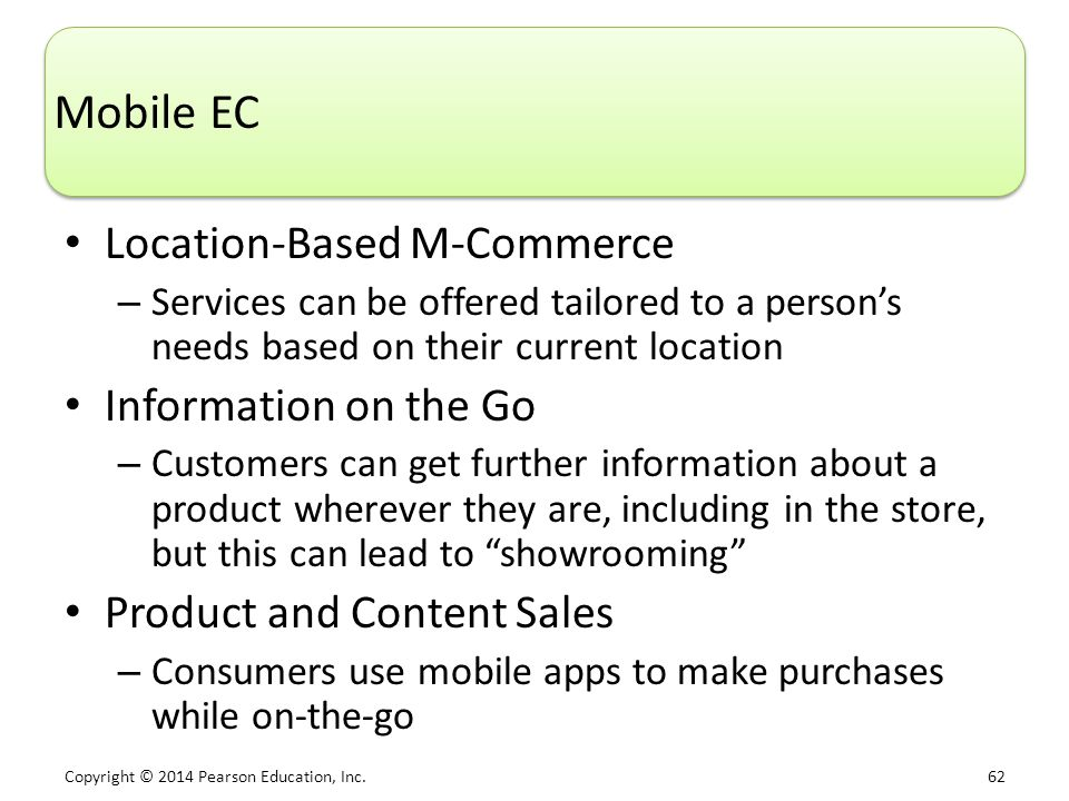 Mobile EC Location-Based M-Commerce Information on the Go