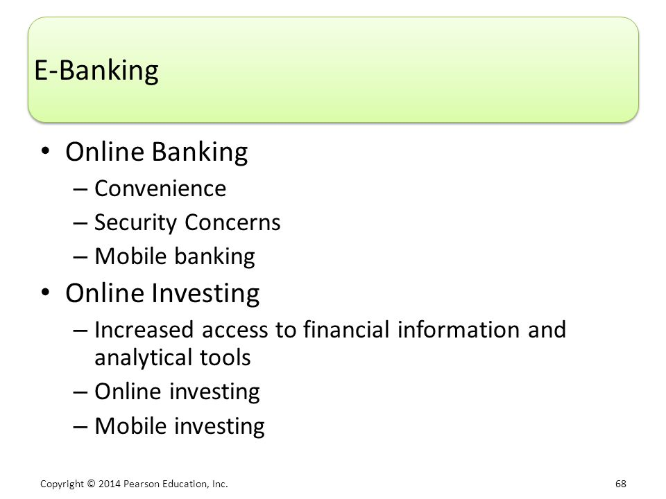 E-Banking Online Banking Online Investing Convenience