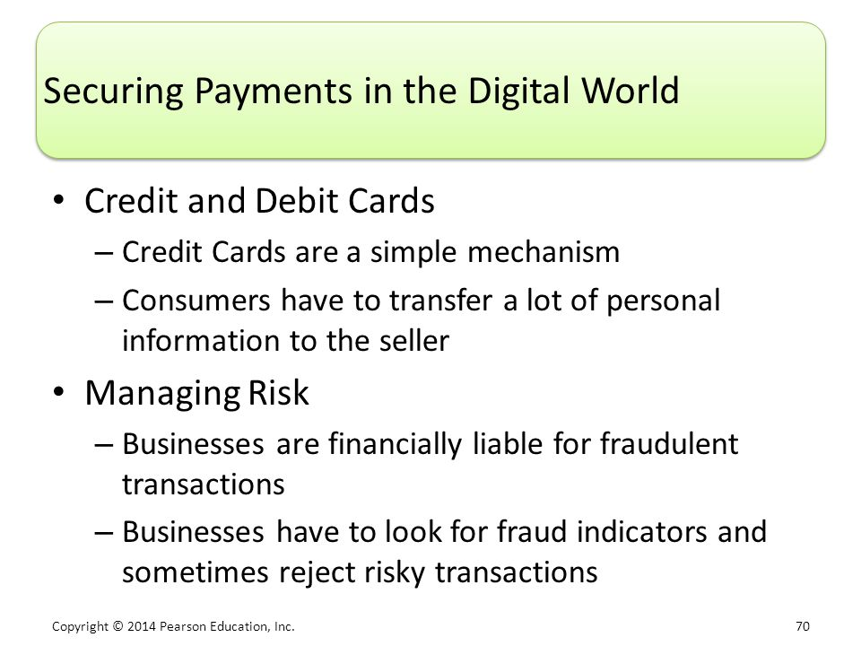 Securing Payments in the Digital World