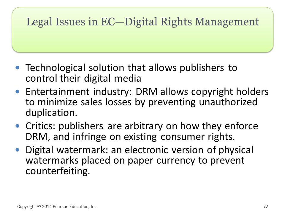 Legal Issues in EC—Digital Rights Management