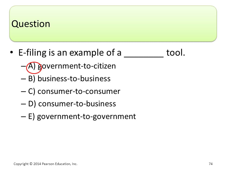 Question E-filing is an example of a ________ tool.