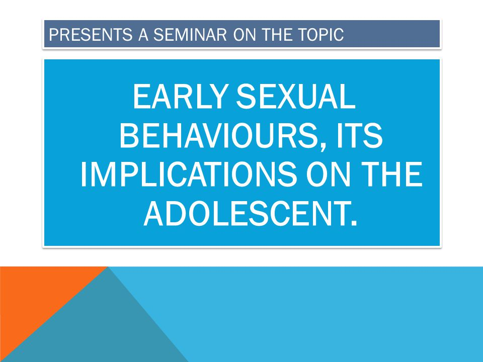 PRESENTS A SEMINAR ON THE TOPIC