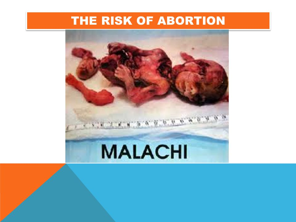 The risk of abortion