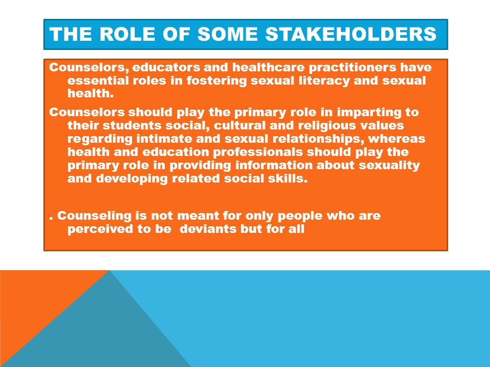 The role of some stakeholders