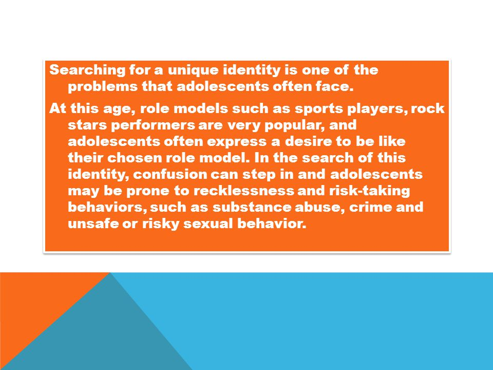 Searching for a unique identity is one of the problems that adolescents often face.