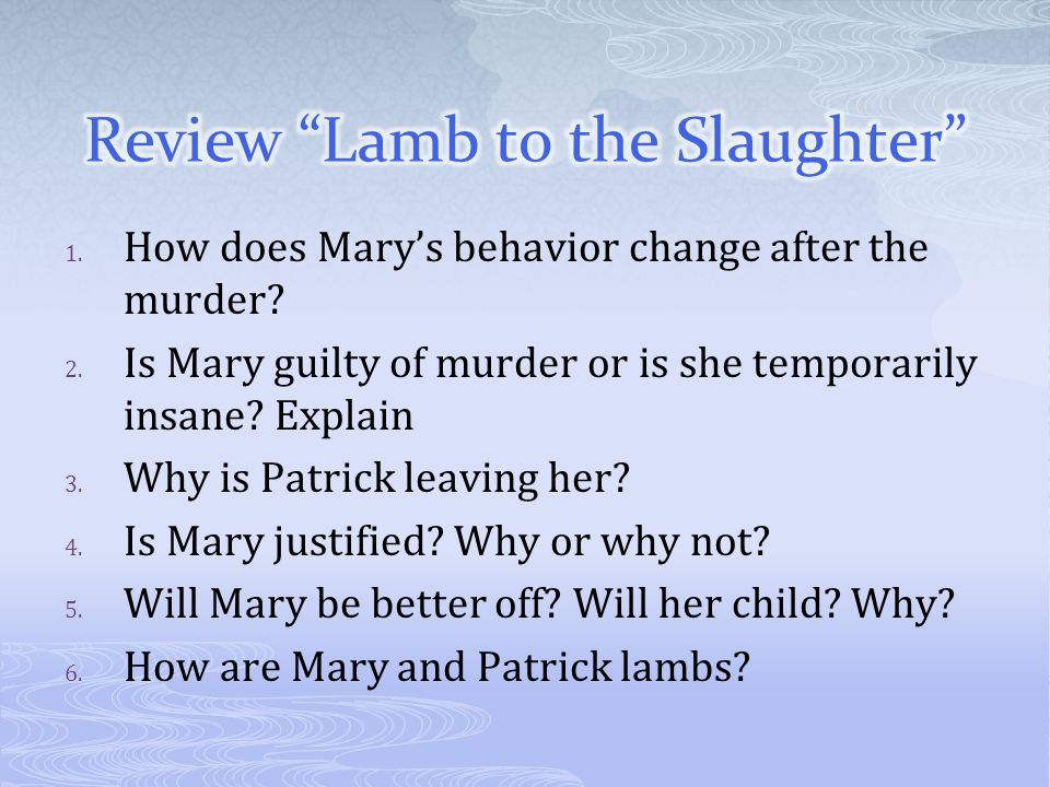 Review Lamb to the Slaughter
