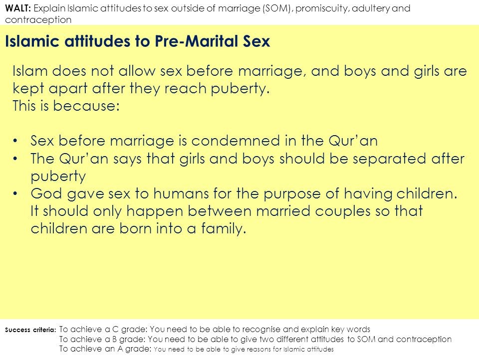 Premarital sex in islam