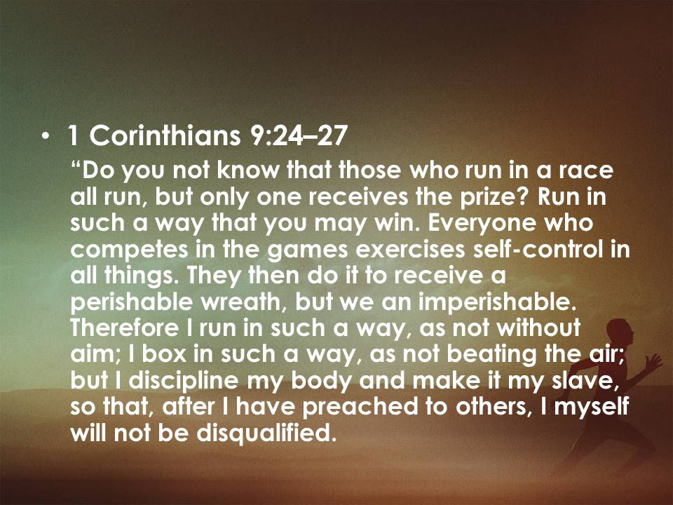 1 Corinthians 9:24–27
