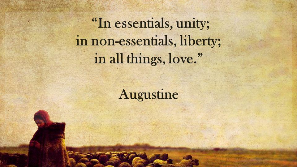 in non-essentials, liberty;