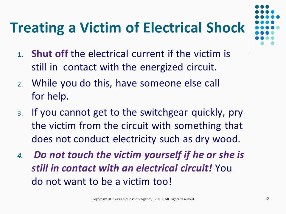 Treating a Victim of Electrical Shock