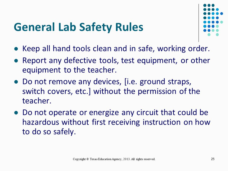 General Lab Safety Rules