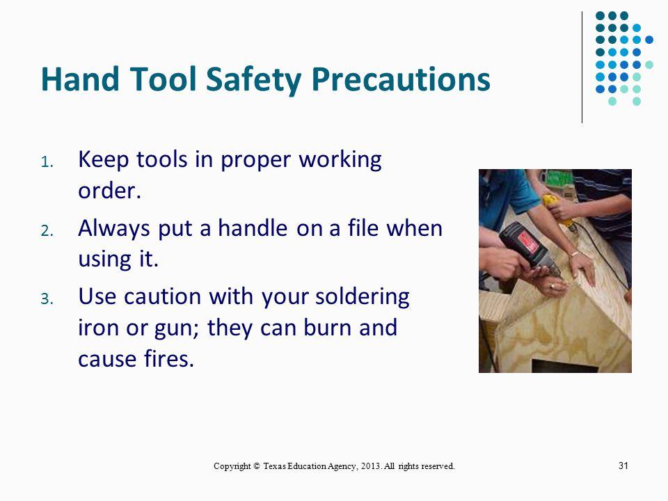 Hand Tool Safety Precautions