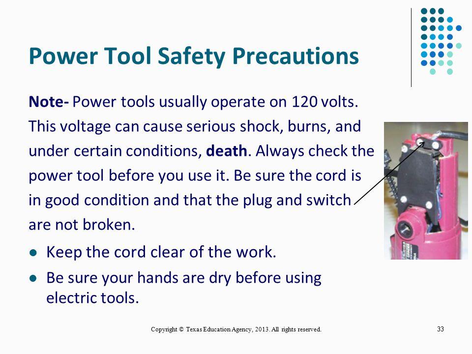 Power Tool Safety Precautions