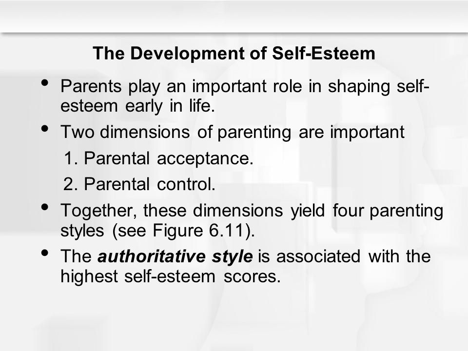 The Development of Self-Esteem