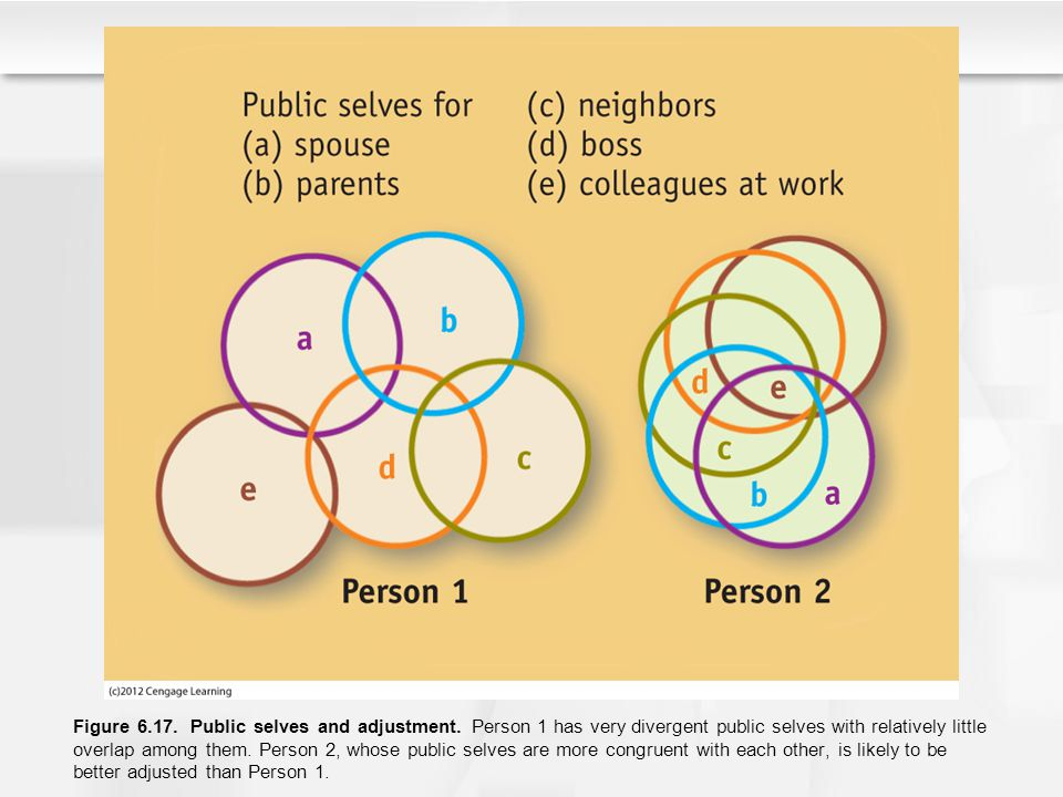 Figure 6. 17. Public selves and adjustment