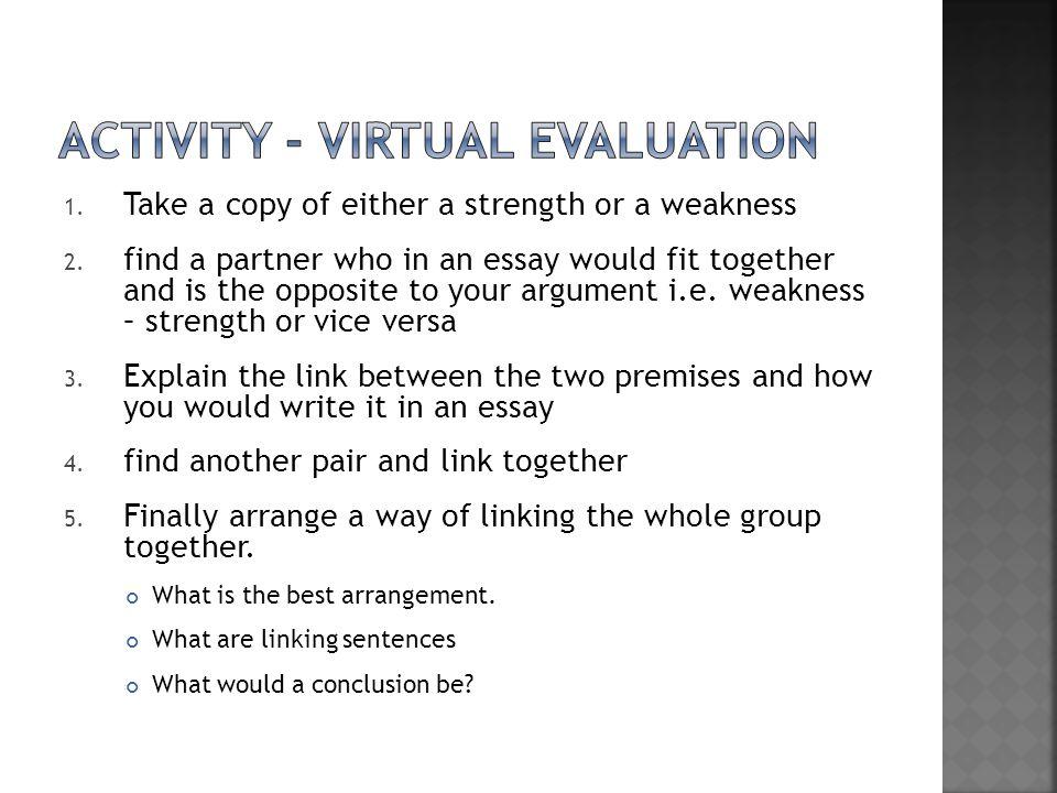 Activity - virtual evaluation