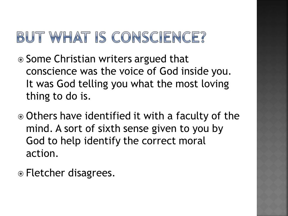 But what is conscience
