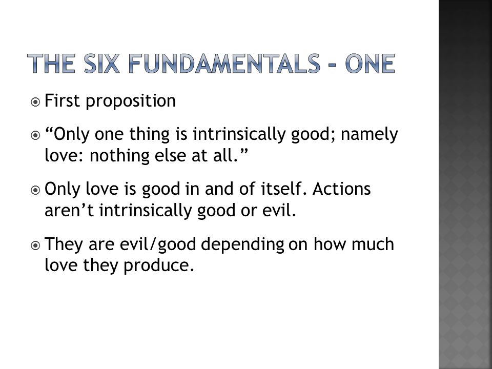 the Six fundamentals - one