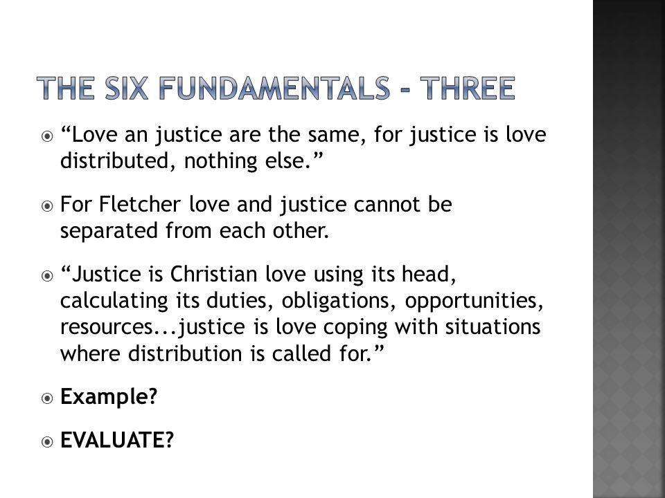 the Six fundamentals - three