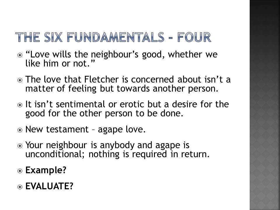 the Six fundamentals - four